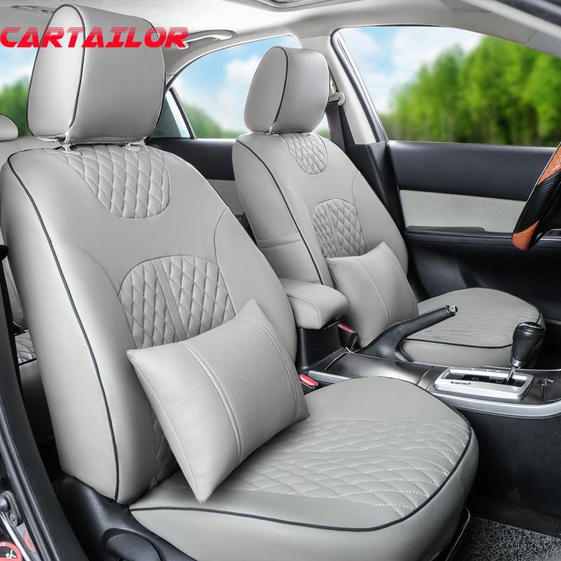 cartailor pu lederen autostoeltjes voor citroen c5 zwarte auto stoelhoezen ondersteunt auto zitkussen ondersteunt interieur accessoires