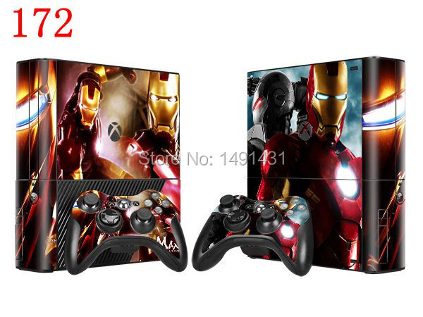 OSTSTICKER One Piece / Lot Vinyl Skin Sticker For Xbox 360 E Console + 2 pcs Controllers Skin Sticker