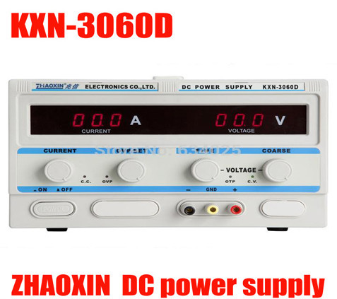 KXN-3060D 0-30v 0-60A HIGH-POWER SWITCH DC ADJUSTABLE POWER SUPPLY Adjustable dc plating aging constant current power supply cps 6011 60v 11a digital adjustable dc power supply laboratory power supply cps6011