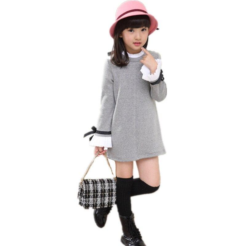 2a652d9757e90 Moda Sonbahar Bebek Kız Elbiseler Parti Tutu Çocuk Giyim Yürümeye Başlayan  Infantil Çocuklar Elbise Uzun Kollu Rahat Kız Elbise