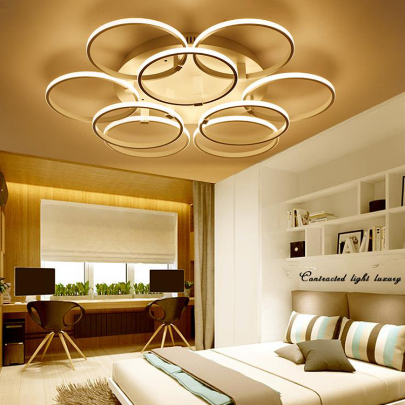 Reasonable Modern Shaped Circle Rings Led Ceiling Lamp Living Room Bedroom Led Ceiling Chandelier Light Fixtures Lampe Plafondlamp Lamparas Ceiling Lights & Fans