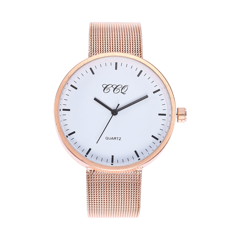 Mode Casual Women Quartz Watch Stål Mesh Vattentät Rose Guld - Damklockor
