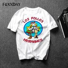 be5bb71e3c Hombres moda Breaking Bad T-Shirt camiseta de LOS POLLOS Hermanos pollo  Brothers manga corta Hipster Tops calientes de la venta