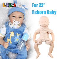 22 Reborn Doll Kit Toddler Silicone Vinyl Soft Head Arms Full Legs with Clothes Lifelike Reborn Dolls Accessories