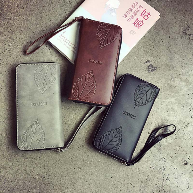 New Fashion Women Purse Clutch PU Leather Wallet Ladies Girls Vintage Long Cards Holder Phone Zip Handbag Wallets Popular LXX9 new brand candy colors leather carteira couro cards holder for girls women wallet purse plaid embossing zipper wallet