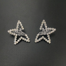 Ciliy Stud Earing Chic Crystal Star Universe Design Fashion Jewelry Christmas Silver Color Earings For Women Oorbellen S105yt