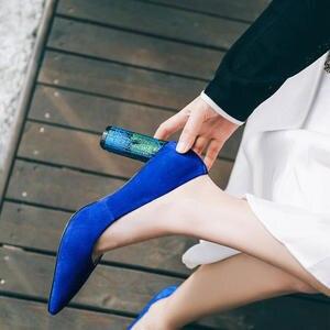 LTTL 2018 Leather Pumps Blue High Heels Shoes Women e392c6c9e2e0