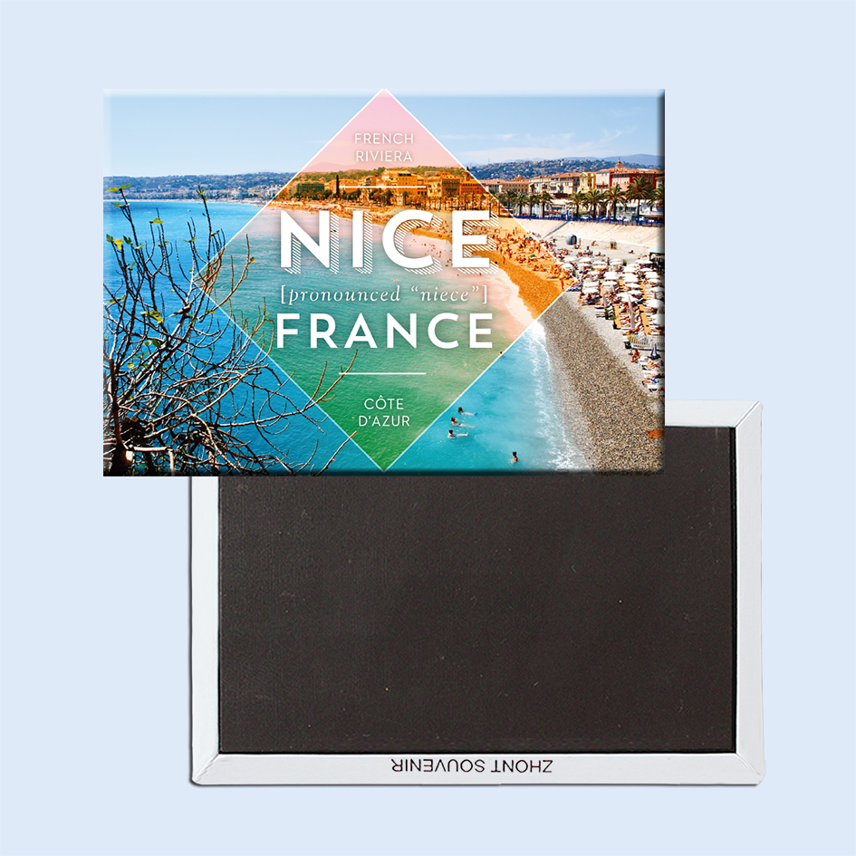 Alpes Maritimes, საფრანგეთის ქალაქი Nice Fridge Magnets 21622 ტურისტული ატრაქციონები