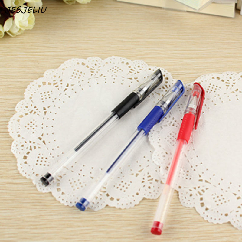 3PCS 0.5mm Ball Point Pen Stationary Gel Ink Pen Black Daily Work Study Tool
