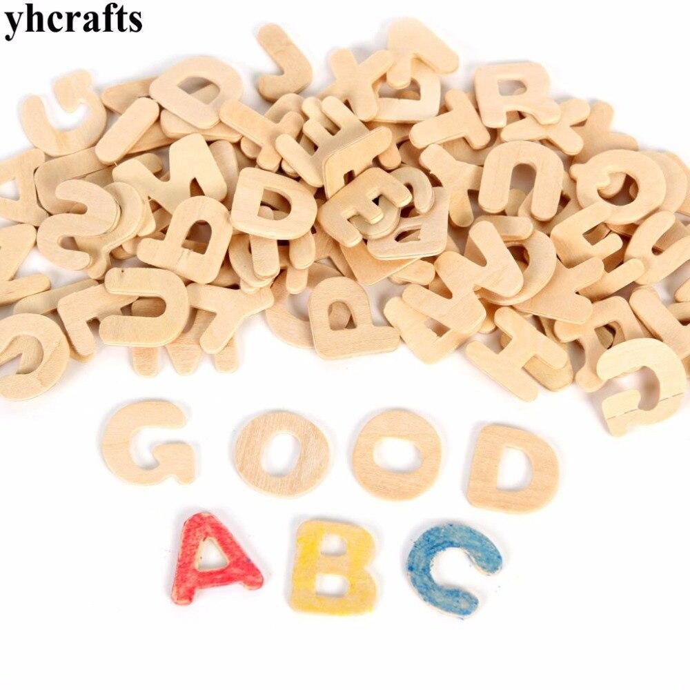26 шт./лот, Краски Незаконченный дерево алфавит,-Z письма, Ранние развивающие игрушки, Дерево ремесел. деревянные игрушки, изучение английског...