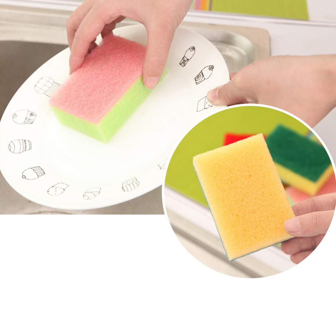 Best Nano Sponge Magic Eraser For Removing Rust Cleaning Cotton Emery Sponge Kitchen Supplies Descaling Clean Rub Pot