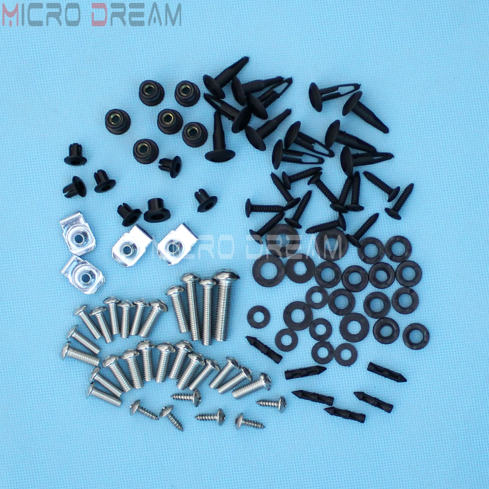 82 Pieces Screws & Nuts Kit Motorcycle Complete <font><b>Fairing</b></font> Bolts Install Hardware For Suzuki GSXR 600 750 GSXR600 <font><b>GSXR750</b></font> <font><b>2008</b></font> 2009 image
