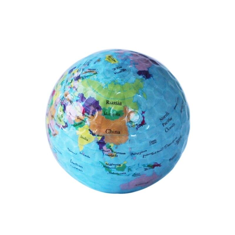 Globe Map Golf Balls Funny Novelty Practice Golf Balls For Kids Men Woman Christmas Birthday Gift Pro