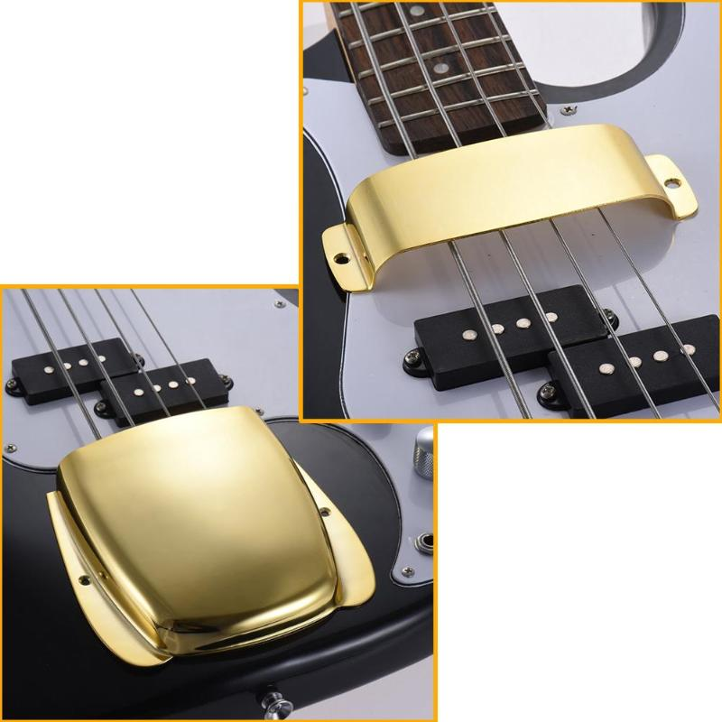 buy alloy short guitar pickup bridge plate cover set protector for jb bass. Black Bedroom Furniture Sets. Home Design Ideas