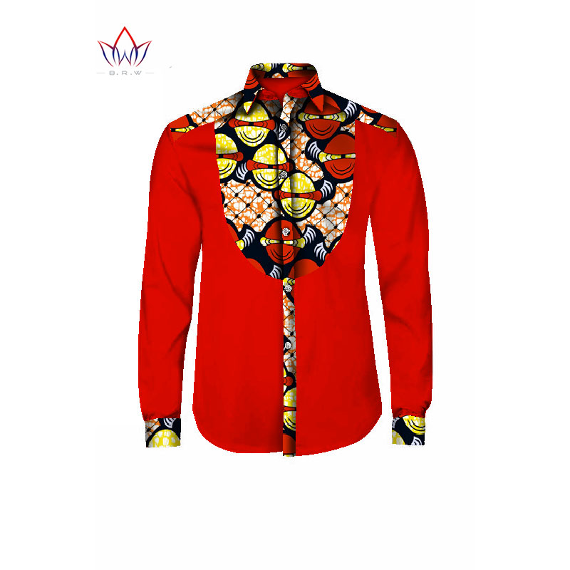 African Men Clothes Dashiki Shirt Men Long Sleeve Shirt Men Casual Style African  Print Wax Cotton e690be189f55