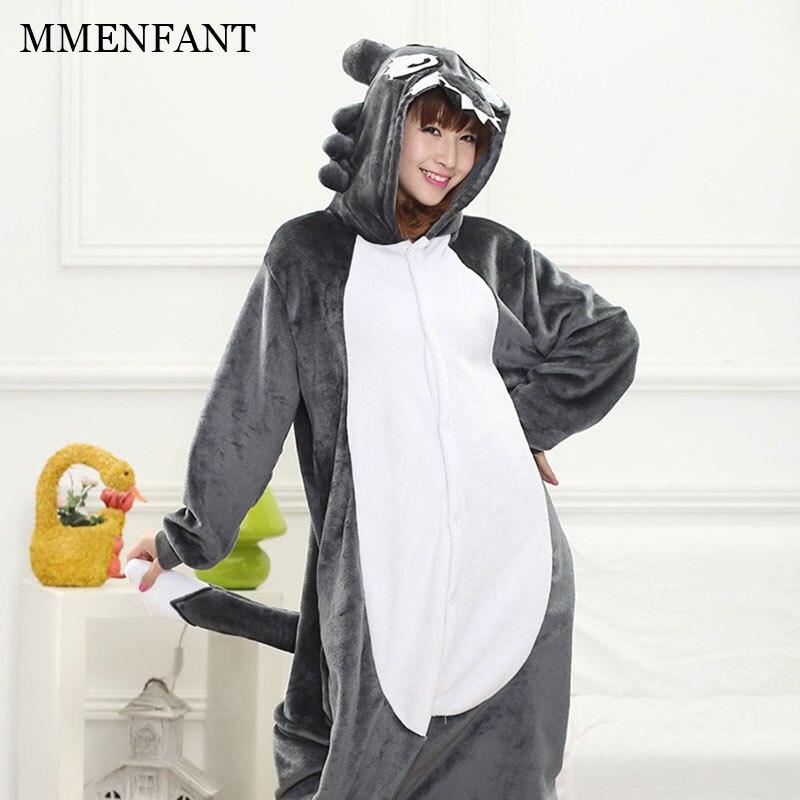 Children Blanket Sleepers Unisex Siamese Flannel Animal Big wolf hooded pijama teens 2017 Winter girls boys pijamas clothes