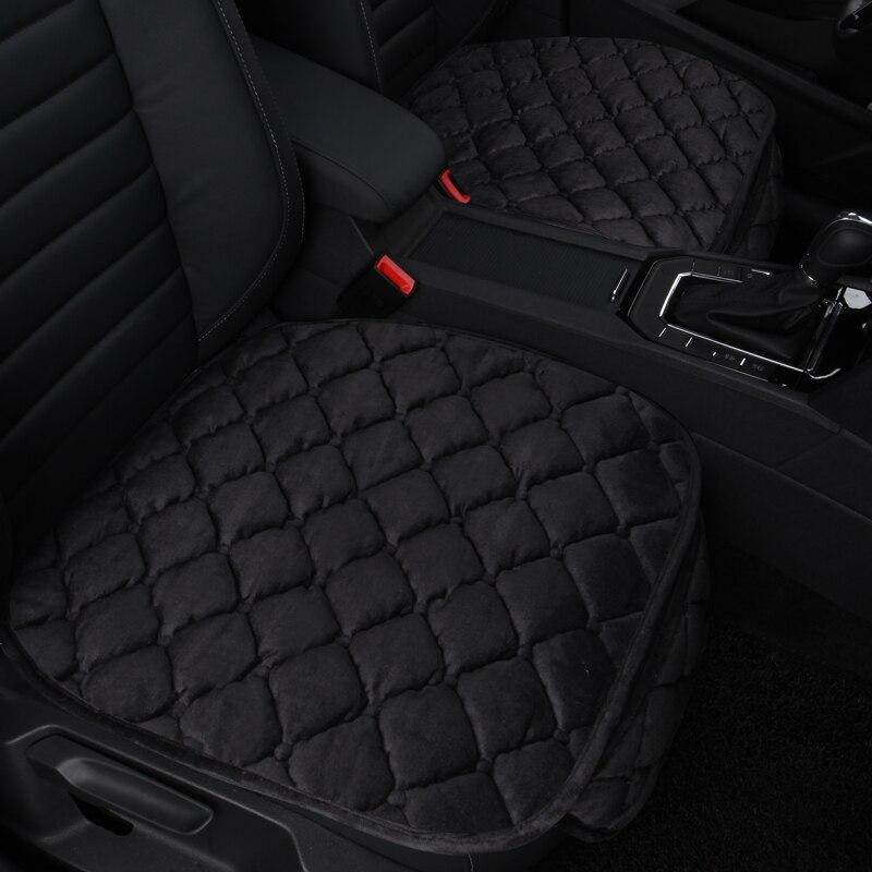 Cubierta Universal del asiento de coche cojín del asiento de coche de invierno transpirable Anti-polvo asiento Auto cojín estera Almohadillas protectoras para el coche SUV faux fur