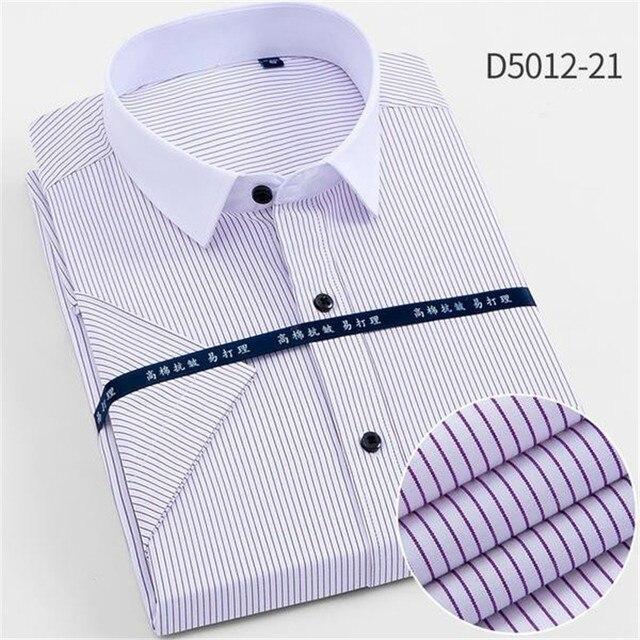 男性韓国スリムなデザインフォーマルカジュアル男性ドレスシャツカジュアル主義ビジネス簡単ケア半袖ドレス男性カミーサ masculina