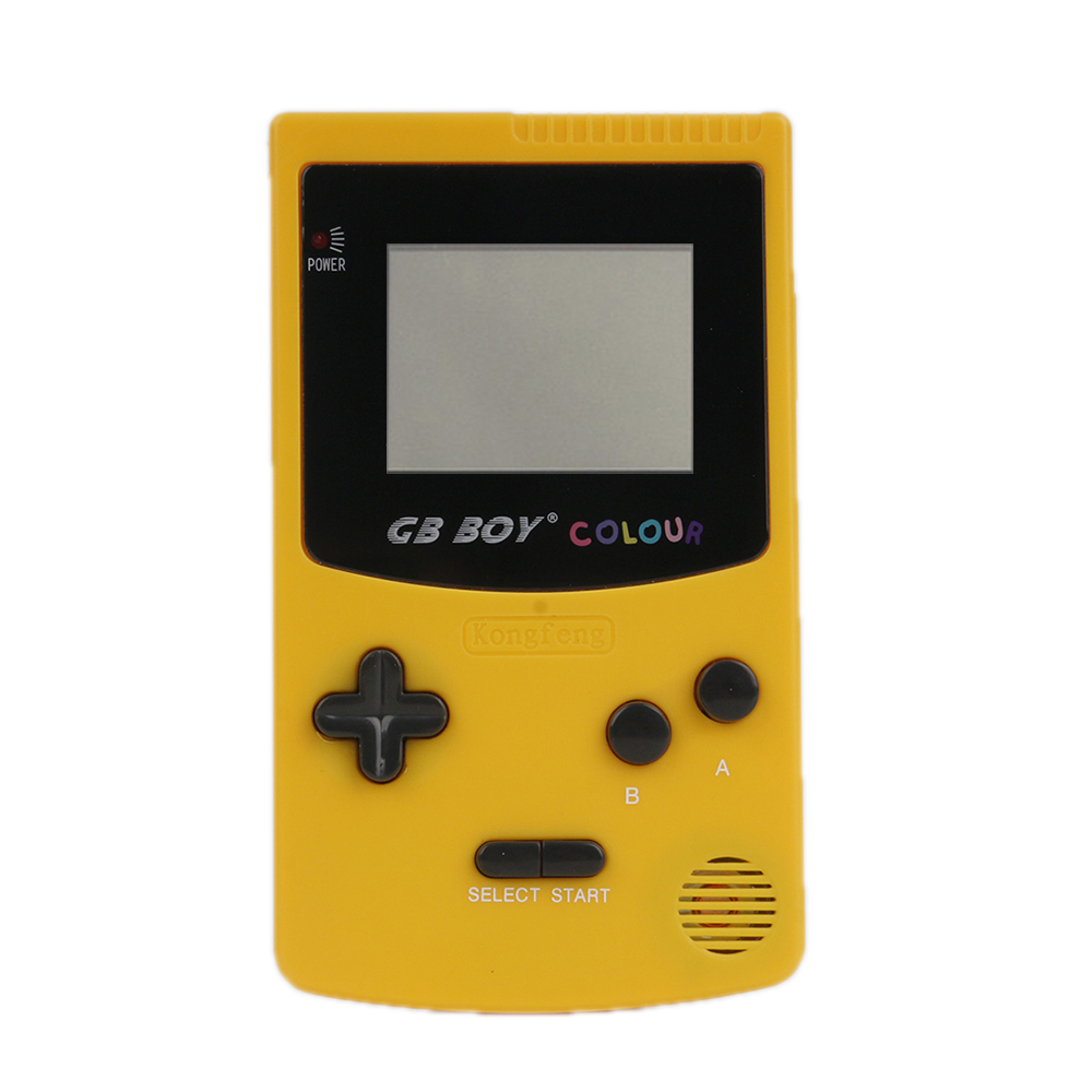 """Jogador handheld do console do jogo da cor do menino de gb 2.7 """"consoles clássicos portáteis com retroiluminado 66 jogos internos"""