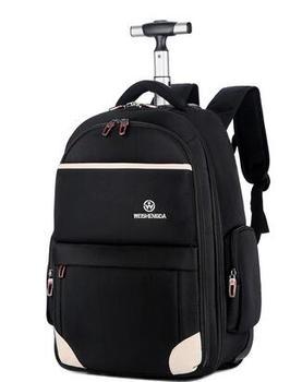Men Oxford Travel trolley bags Wheels Travel trolley Rolling backpacks Women wheeled Backpacks Men  Business luggage suitcase