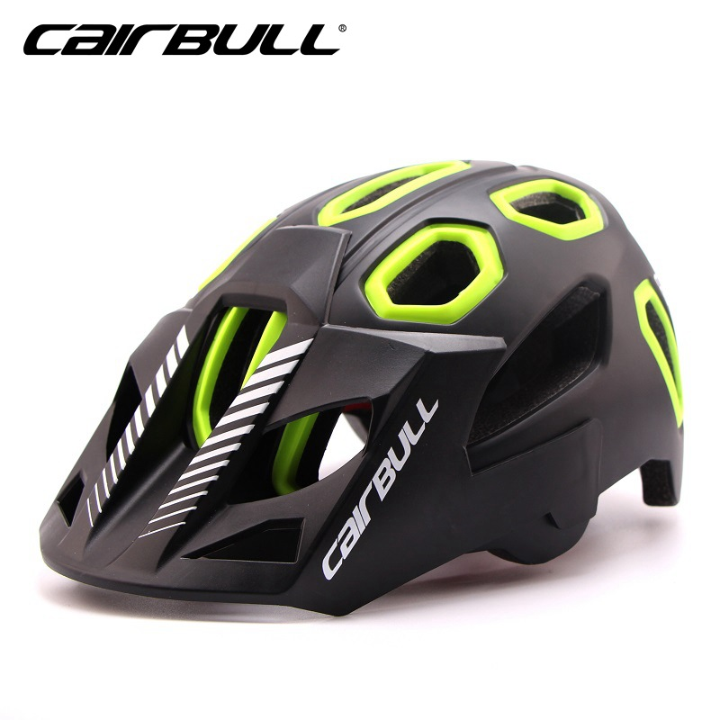 Cairbull Mountain Bicycle Helmets 15 Air Vents Safety Integrally-molded Bike Helmet MTB Road Casco Ciclismo Visor M L 54-62CM new bicycle helmets sunglasses cycling glasses 3 lens integrally molded men women mountain road bike helmets 56 62cm