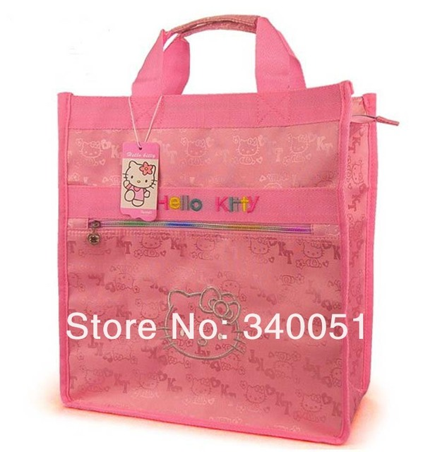 China Wholesale Women  Handbags Hello Kitty  Fashion Shopping Bag  Pink Color (1 piece) Free Shipping