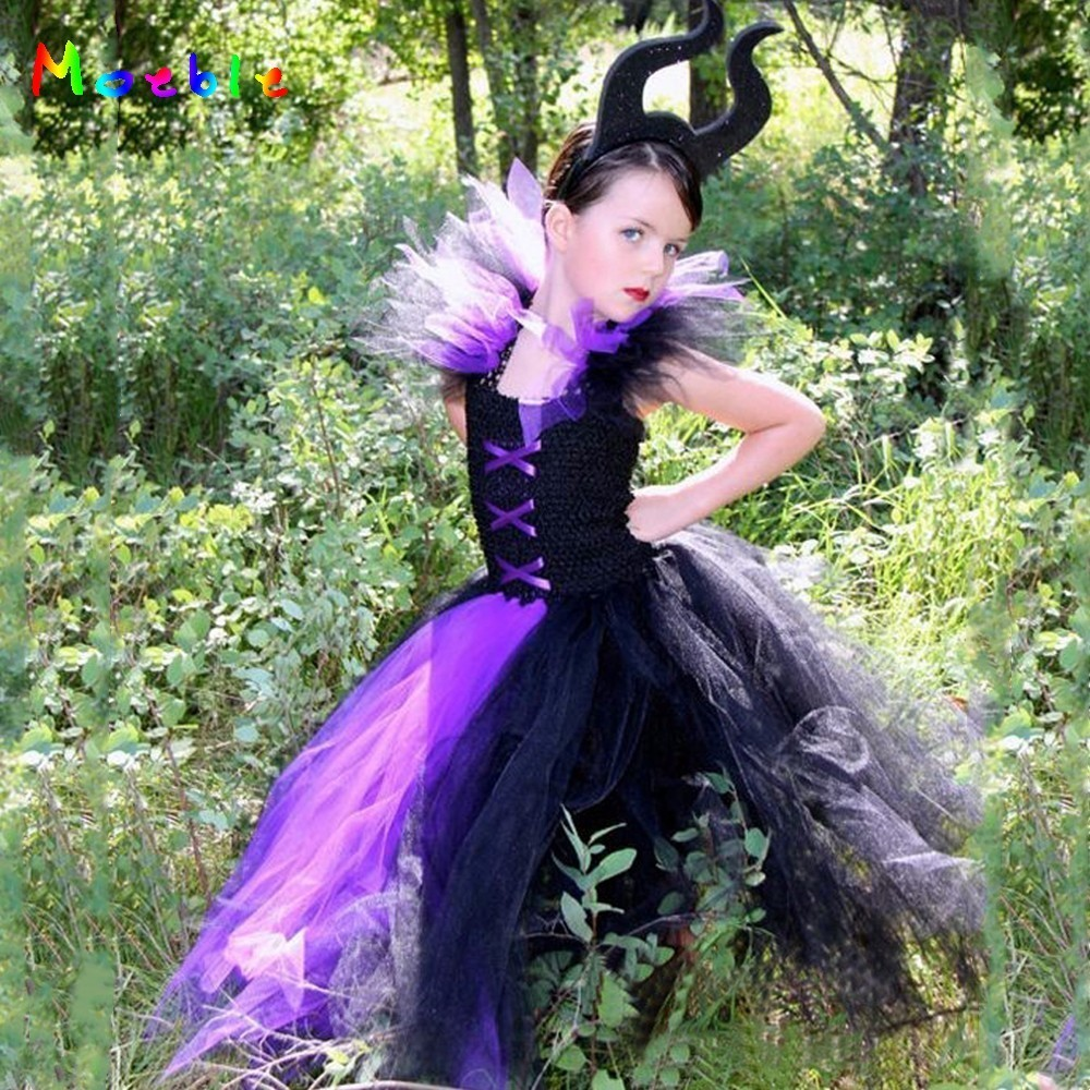 Evil Queen Kids Halloween Party Dresses for Girls Tutu Dress Children Cosplay Costume Girl Clothing Carnival Ball Gown Vestidos donald trump costume for adults inflatable funny costume holiday clothing ride on cosplay party carnival airblown clothing 10 23