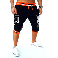 Pkorli Juventus Shorts Men Leisure Men S Calf Length Fitness Bodybuilding Short Pants Fitness Homme Outwear