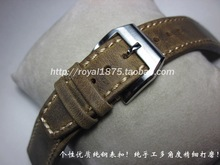 Men Genuine Leather Hand Stitching Vintage Watch Straps 20 21 22mm Calfskin Watchbands Stainless Steel buckle for branded watch