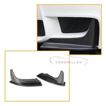 Hiệu suất Carbon Splitter Trước Đua Xe Phía Trước Bumper Lip Splitter Tạp Dề đối với BMW 1 Series E82 M 1 m Coupe 2 cửa 2011
