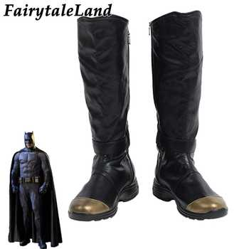 Justice League Batman Boots Halloween Cosplay Accessories Custom Made Superhero Batman Shoes Black leather Boots - DISCOUNT ITEM  20% OFF All Category