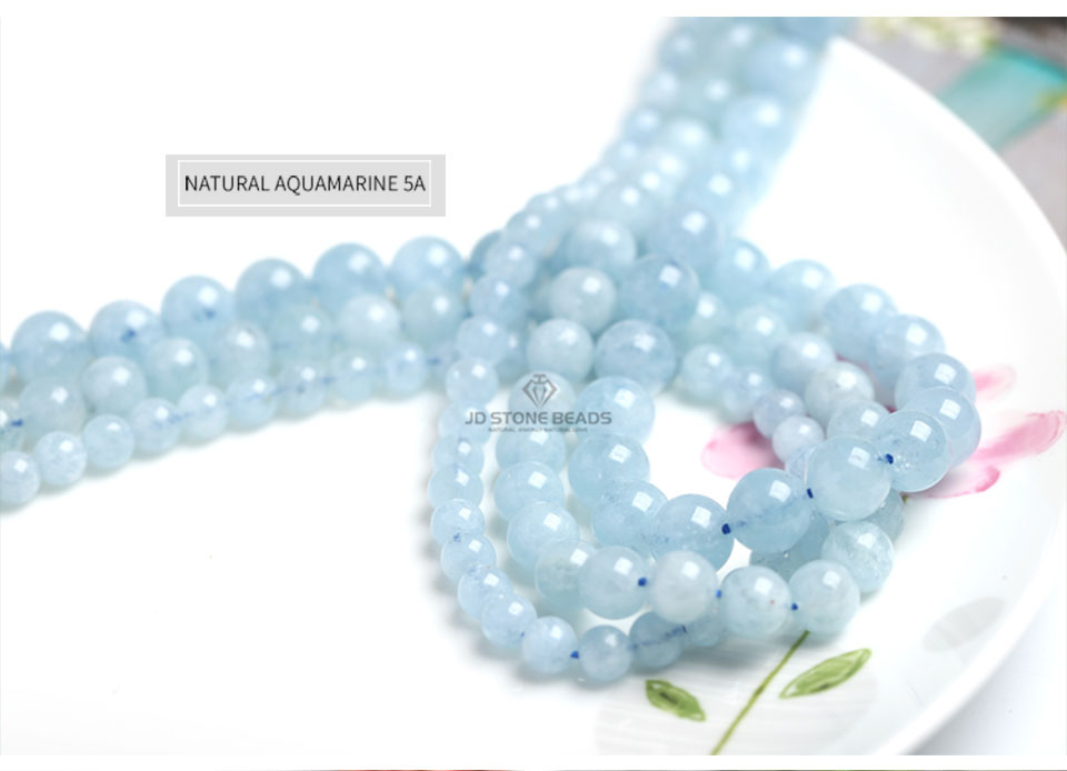 HTB1zZiVXsrrK1RjSspaq6AREXXa0 4 6 8 10 12 mm Natural Aquamarine loose Beads Free Shipping Faceted Blue Pick Szie  DIY Accessory Gemstone For Jewelry Making
