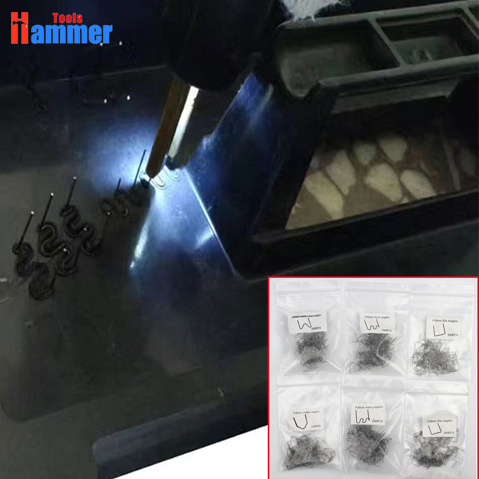 600pcs 0.8mm 0.6mm Staples Plastic Welder Staple For Hot Stapler Plastic Welding Machine