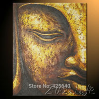 Buda Buddha painting Zen Buddha Canvas Wall Art Modern Contemporary Abstract Painting Hand Painted Buda 5