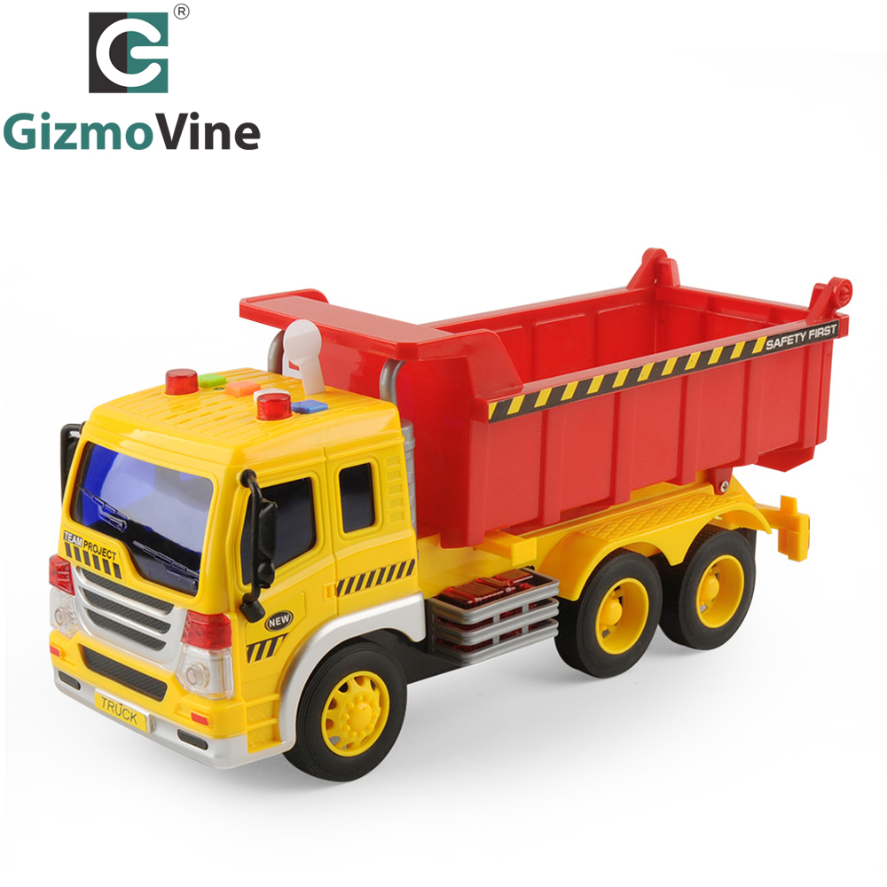 GizmoVine Details about Kids Engineering Vehicle Inertial Car Crane Truck Model Toy with Sound and Light Car Toys For Children