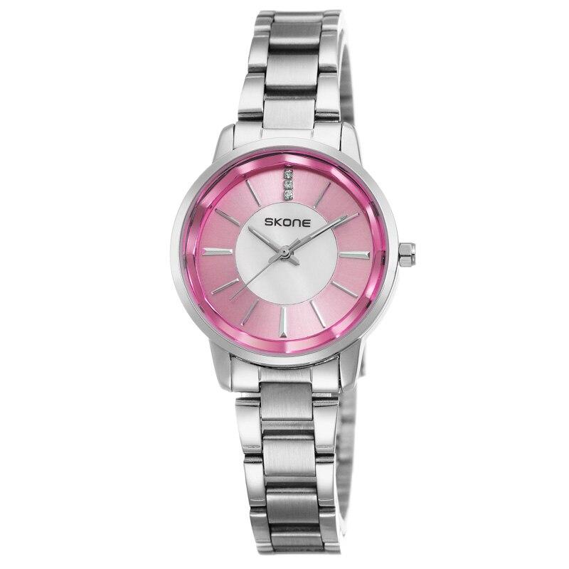 SKONE 2018 New Waterproof Quartz Watch Pretty Heart Shape Flower Dial Watches Delicate Wristwatch Gifts Hot Sale Watch For Women
