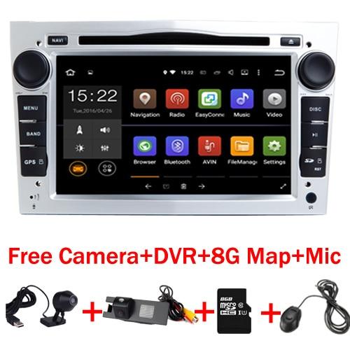 7 HD 1024X600 Android 7.1 Voiture DVD GPS Navigation pour Opel Astra Vectra Antara Zafira Wifi 3G BT Radio USB SD Livraison Caméra + DVR