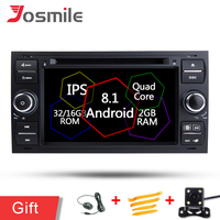 2 Din Android 8.1 Car DVD Radio Stereo Car Multimedia Player For FORD Focus II C Max S Max Galaxy Fusion Transit Head Unit GPS