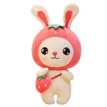 Cute cartoon fruit plush toy cute rabbit doll girl large pillow