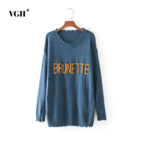 European Spain Danqiudong Suit Dress New Pattern The Chest Letter Sleeve Head Sweater Easy Flash Knitting