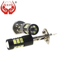 цена на KEIN 2PCS H1 LED Fog light High Power 6000K 4014 54SMD 12V H1 led lamp car auto External DRL Daytime Running Vehicle Light lamp