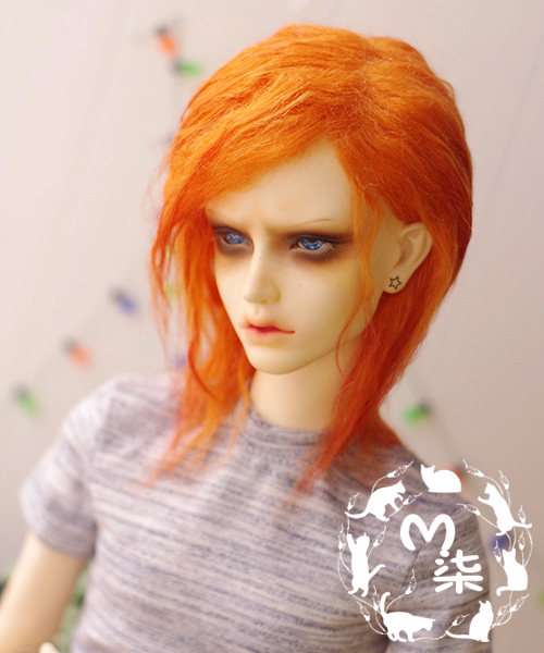 New 1/12 3-4 inch 9-10cm 1/8 4-5 inch 12cm 14cm BJD Orange red radishes Curly hair For lati Doll Antiskid BJD Doll Wig uncle 1 3 1 4 1 6 doll accessories for bjd sd bjd eyelashes for doll 1 pair tx 03