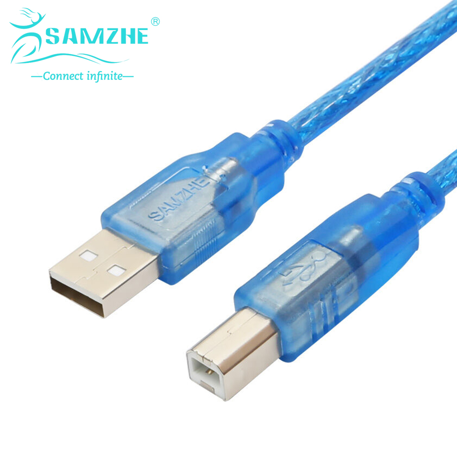 SAMZHE USB2.0 Printer Data Cable Male to Male Printer Port USB2.0 for Printing 1.5M 0 6m 1 97ft 2 port usb3 0 a male to 19pin usb 3 0 male data cable cord for motherboard rear usb to host case front panel usb3 0