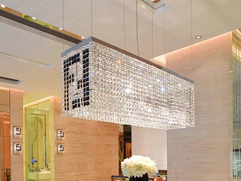 dining lighting fixtures. Fine Lighting Modern Contemporary Luxury Linear Rectangular Double F Island Dining Room  Crystal Chandelier Lighting Fixturein Pendant Lights From U0026 On  Throughout Fixtures