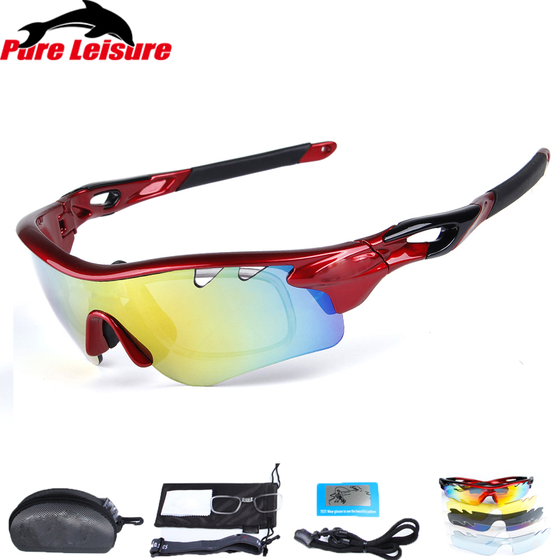 56f4475eb6f8 PureLeisure 1Set 5 Lens Fishing Glasses lunette polarisantes peche Outdoor  Sport Eyewear UV400 Fishing Polarized Sunglasses