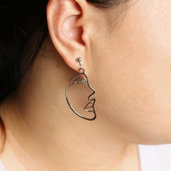 Hollow Face Drop Earrings For Women 3