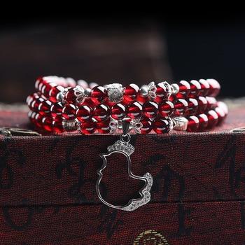 Garnet Wine Red Bracelets2
