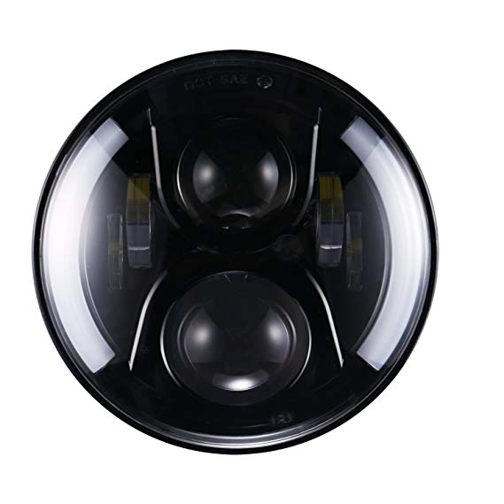 7 inch 60W 12V LED Modified Headlights Off road Vehicle Modifying Low & High Beam LED Spot Lights Refit External Round LED Light