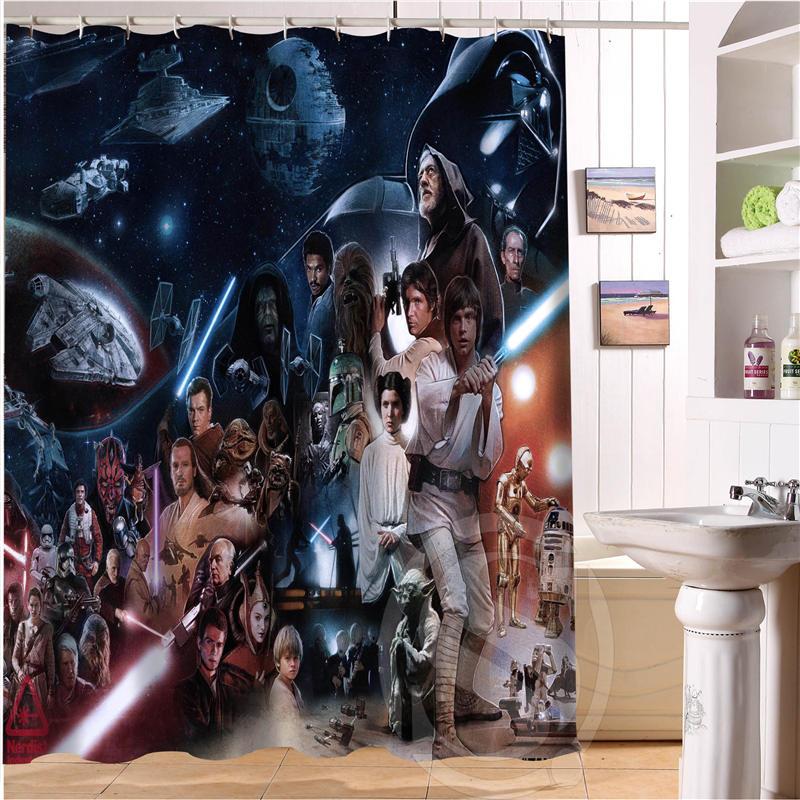 bath star wars shower curtain