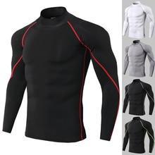 New Autumn Gym T-shirt Men Compression Boldbulding Jogging Sport T-shirt Men's Outdoor Clothes Running Long Sleeve T-Shirt недорого